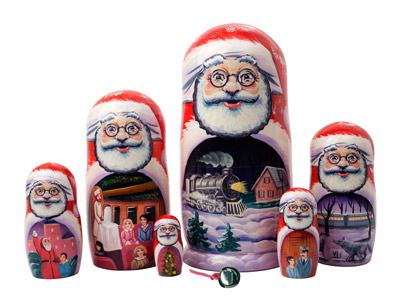 The Polar Express Nesting Doll - doll only - 7pc./8