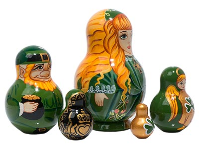 Irish Nesting Doll 5pc./5