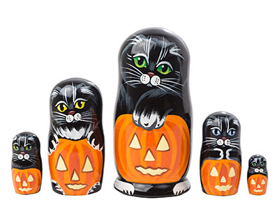 Halloween Cats 5pc./5