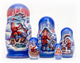 Emelya and the Magic Pike Nesting Doll 5pc./6