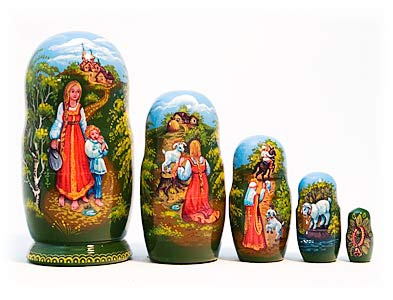 Alyonushka Fairy Tale Nesting Doll 5pc./5