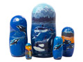 Scenic Orca Whale Nesting Doll