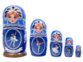 Russian Ballet Nesting Doll 5 pc./6""