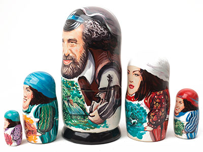 Fiddler on the Roof Matryoshka 5pc./6
