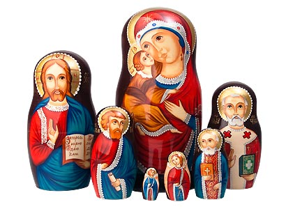 Icon Glitter Matryoshka 7pc./8