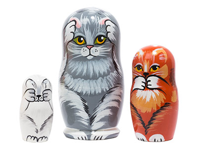 No Evil Cats Doll 3pc./4