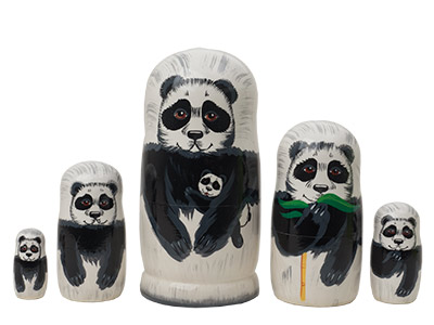 Panda Bear Doll 5pc./5