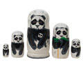 Panda Bear Nesting Doll at GoldenCockerel.com