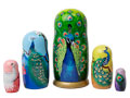 Strutting Peacock Nesting Doll Gift