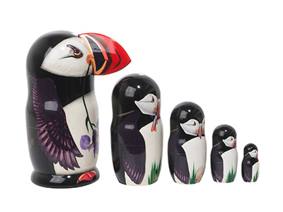 Making Amends Puffin Nesting Doll w/ 3D Beak 5pc./6