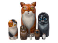 Orange Tabby Cat Doll 7pc./7