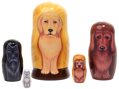 Golden Retriever Dog Doll 5pc./4