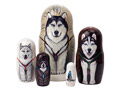 Dog Sled Nesting Doll 5pc./6