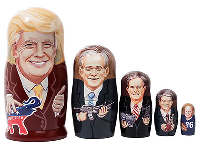 President Donald Trump Nesting Doll 5pc./6