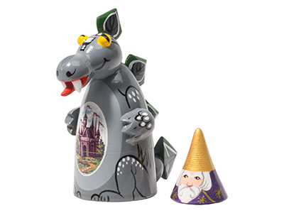 Dragon & Merlin Cone Doll 2pc./3
