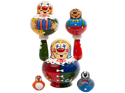 Moscow Circus Doll 5pc./5