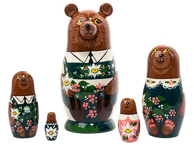 Alpine Bear Doll 5pc./5