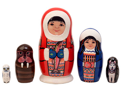 Eskimo Nesting Doll 5pc./5