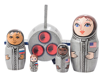 Space Shuttle Nesting Doll 5pc./5