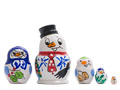 Mini Snowman Doll 5pc./1.5