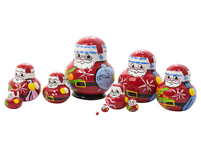 Mini Father Frost Nesting Doll 10pc./1.5