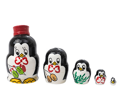 Miniature Stacking Doll: Penguins 5pc./1
