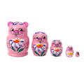 Miniature Stacking Doll: Pig 5pc./1