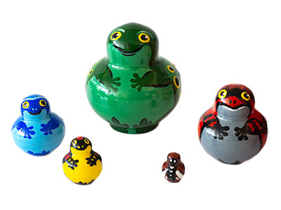 Miniature Stacking Doll: Frog 5pc./1