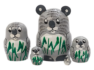Miniature Stacking Doll: Koala 5pc./1