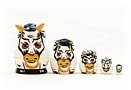 Mini White Bull Nesting Doll