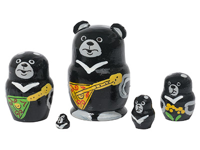 Mini Black Bear w/ Balalaika 5pc./1
