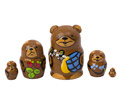 Mini Brown Bear with Honey Doll 5pc./1