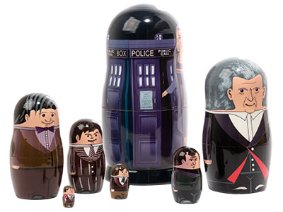 Contemporary Doctor Nesting Doll 7pc./6