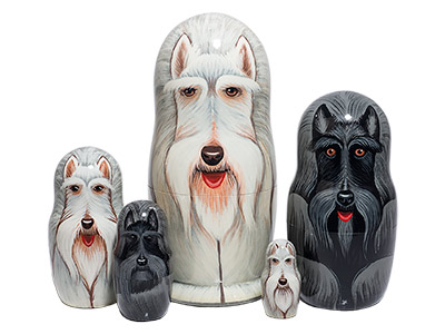 Scottie Dog Nesting Doll 5pc./6
