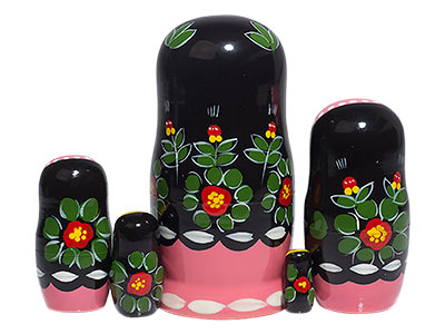 Poppies Nesting Doll 5pc./4