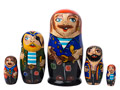 Pirate Nesting Doll 5pc./6""