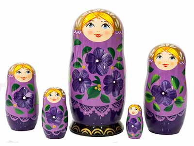 Lavender Classical Doll 5pc./6