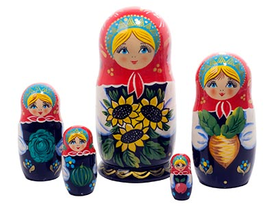 Sunflower Garden Doll 5pc./6