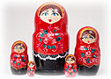 Cherry & Black Classical Doll 5pc./6