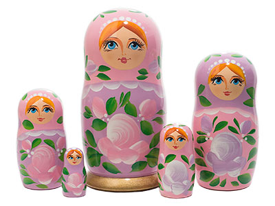 Pink Classical Doll 5pc./6
