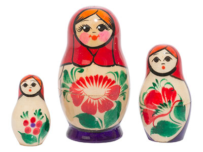 Nolinsk Babushka Doll 3pc./3
