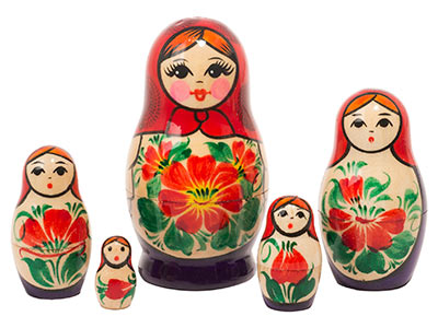 Nolinsk Babushka Doll 5pc./3.5