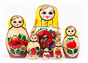 Nolinsk Yellow Scarf Girl Doll 6pc./4.5
