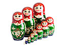 Nolinsk Straw Inlay Doll 12pc. - Folk Art