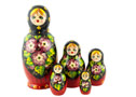Red & Black Kirov Doll w/ Head - Folk Art