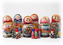 Matryoshka w/ Ornaments small - Folk Art