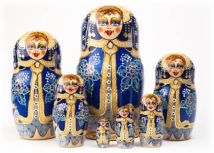 Gold-Framed Doll 7pc./8