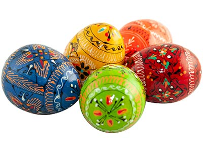 Ukrainian Pisanka Easter Egg, Wood 2.5