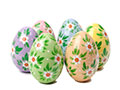 Pastel Hollow Easter Eggs, Set of 6