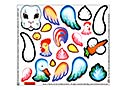 Stickers for Easter Animals Nesting Eggs